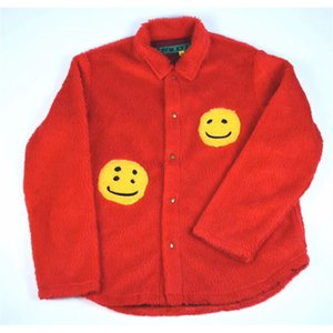 Fashion Casual Pure Cotton CPFM.XYZ Jacket Men Women High Quality Smiley Face Hairy Warm Red Blue Kanye CPFM.XYZ Jackets Coat