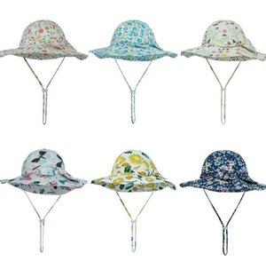 New Bow Summer Baby Hat для девочек Панама Детские Ведро Шляпа Весна Осенние Путешествия Пляж Большой Breim Baby Cap Girls Sun Hats 12 Цветов OOD5688