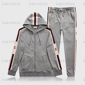 2021 Mens Designer Soccer Tracksuit Set Giacca Vestito Pantaloni Pantaloni Sweatshirt Suts Suits Cappotti Giacche Casual Felpe Casualsuit
