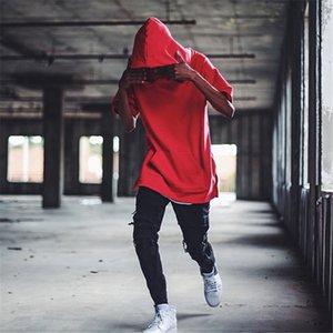 21SS SUIS HIGH STREET MODE TOPS TIDE GRANDS PERSONNALITÉ HOMME PERSONNALITÉ HOP HIP T-shirt à manches courtes T-shirt à capuche T-shirt à capuchon européen et américain décontracté surdimensionné