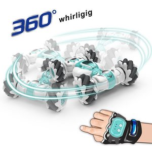 2.4G Mini Remote Control RC Car Roll Rotary Double-Side Stunt Gesture Induction Twisting Drift Off-Road Cars Dancing Driving Car 210322