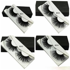3D Mink Eyelashes Long Full Natural Makeup False Lashes Criss-cross 25mm Wispies Fluffy Extensions Fashion Tool