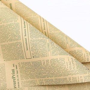 Газета Florist Wrap Flower Букет Подарочная упаковка Упаковочная бумага для День Рождения Валентина День матери Рождественское благодарение HWA4341