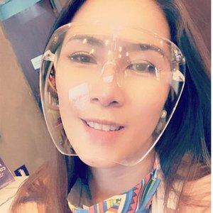 Rosto Bolha Oversized Sunglass Transparente Óculos Homens Mulheres Moda Segurança Goggle Gradiente Sunglasses Máscara Shield Shades Protetora