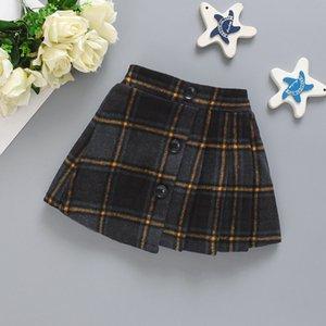 Kids Newborn Baby Girls Skirt Clothes Toddler Kids Plaid Skirts Mini Skirts Spring Winter Infant Girls Casual Warm Overskirt 558 K2