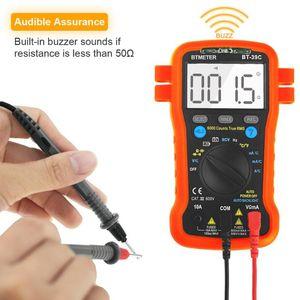 Multimeters BTMETER BT-39C True RMS Digital Multimeter Auto Ranging For AC DC Voltage,Current,Resistance,Capacitance,Diode,6000 Counts