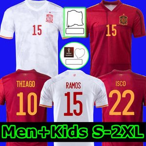 2021 Espagne Jersey Soccer Home Away Camiseta España Thiago Koke Saúl Asensio Paco Morata A.Iesta Pique 20 21 Coupe d'Europe Alcacer Sergio Ramos Alba Hommes Kid