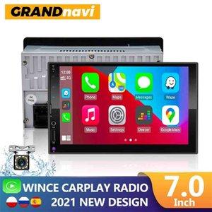 "2din Carplay Radio Multimedia Player 7 ""Universal SD USB 16EQ Bluetooth Mirror Link Apple Autoradio 2 DIN STEREO 210625"