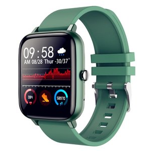 2021 WillGallop P6 Bluetooth Chamada Smart Watch Touch Touch Pressão Arterial Monitor Homens Mulheres Fitness Tracker SmartWatch para Android / Ios
