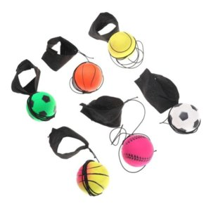 Decompression Toy Wrist Band Elastic fun Bouncy Fluorescent Rubber Ball Board Game Funny Elastics Balls training antistress Random Color Co14