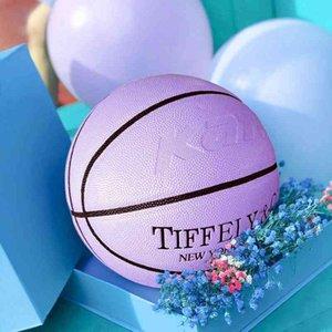7 Tiffany TIFFANY BLUE youth gift basketball pink print soft leather