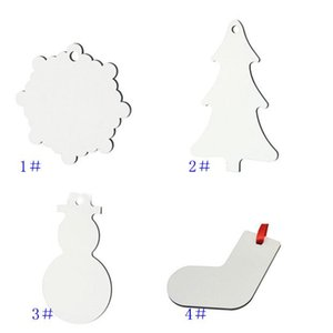 Sublimation Blank MDF Snowflake Pendant Christmas Tree ornaments Hanging Decoration Hot Transfer Printing DIY Blanks Consumable GWD9541