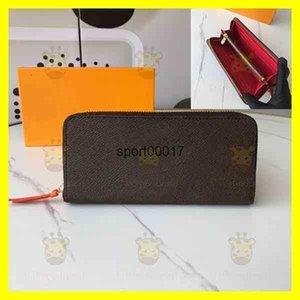 long single zipper Classic purse womens wallet mens wallets purses Fold Damier Women Fashion portafoglio