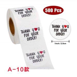 Thank You Stickers custom roll closure sticker for baking handicraft wedding decoration label