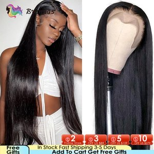 Lace Wigs Bone Straight Human Hair 4x4 Closure With Baby Brazilian Pre-Plucked 13x4 Front 180% Density