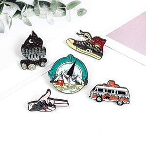 Vintage Bus Shoes Chaussures En Émail Broches Pin Pour Femmes Mode Robe De Mode Chemise Demin Metal Broche Pins Badges Cadeau Promotion Nouveau Design578 T2