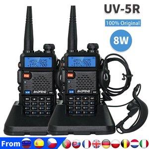 100% Original Baofeng Uv 5r Walkie Talkie 8 Watts High Power UV-5R Dual Band VHF UHF 136-174Mhz&400-520Mhz UV5R 10KM Long Range