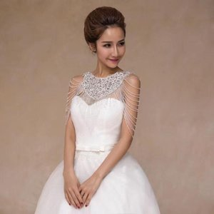 High-quality Luxury Bridal Shoulder Chain Fringed Wedding Accessories, Necklace Neck Crystal Beads Lace Jewelry For Women Chains