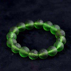 7 9 11 13mm Authentic MOLDAVITE Stretch Bracelet Natural Crystal Unisex Jewellry Energy Meteorite Stone Healing FS-37KP Beaded, Strands