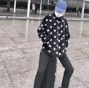 Lässige Langarm Lose Hoodie Jacke Kuh European Mode Mantel Für Männer und Frauen, mit Samt Wärme