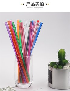 Disposable Straws 230*7mm Creative DIY Plastic Party Drinking Straws 9inch Reusable Straws for Tall Skinny Tumblers Can be customized 372 S2