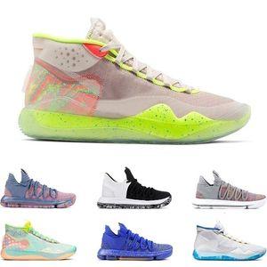 2019 mens scarpe sportive kd 10 12 eybl 90s kid warriors casa lupo grigio multi colore finale kevin durant sneakers sportivi dimensioni 7-12