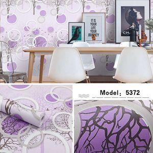 Wall Stickers pvc thick self-adhesive wallpaper cartoon girl heart warm children's room bedroom purple sticker size 10m*45cm