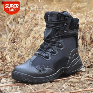 Army Military Boots Men Winter Leather Casual Waterproof Black High Top Safety Shoes Men's Desert Tactical Combat Ankle Boot #gb0K