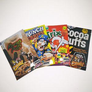 Reese Cocoa Puges Tris Bag Emibiles Crunch Ягоды 400 мг Запах Доказательство Chirld Цзыгры Замок Упаковка Упаковка