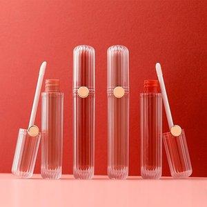 립글로스 10pcs / lot 5ml 핑크 빈 컨테이너 립글로스 액체 립스틱 플라스틱 병 화장품 유약 튜브 지팡이