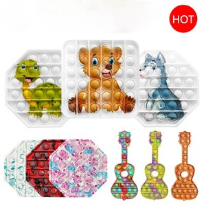 Pop it Colorful new style Figet Toy Stress Relief For Kids Adults Early Educational Simple Dimple 10cm silica gel interaction game