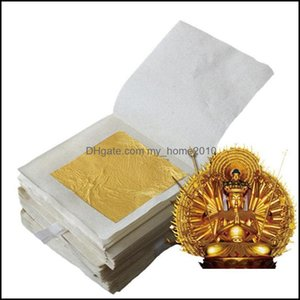 Packaging Paper Packing Office School Business & Industrial50Pcs Edible Leaf Sheets 24K Pure Genuine Facial Gold For Cooking Cakes Chocolate