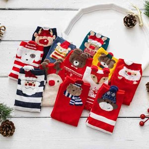 Christmas children's tube Cartoon Bear cute autumn and winter ins tide red stockings