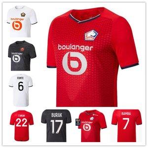 Losc Lille Soccer Jerseys 2021 2022 YaziCi Çelik Bamba Botman 21 22 Jikone Rsanches Maillot de Camicia da calcio