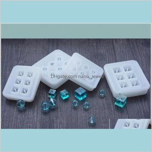 Transparent Rectangle Silicone Bead Mould Square Ball 6 Holes Diy Jewelry Mold Resin Molds For Jewelry Qxke8 J1Css
