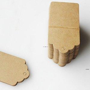 Decorazione del partito Blank prezzo tag kraft carta regalo fai da te marrone etichetta HWD5844