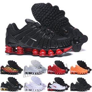Shox TL Nouveaux entraîneurs TL Mens Running Shoes Triple Noir Or noir Gris Clay Orange Sunrise Vitesse Rouge Femmes Sports Sports Sports Sports Sports Taille 36-46