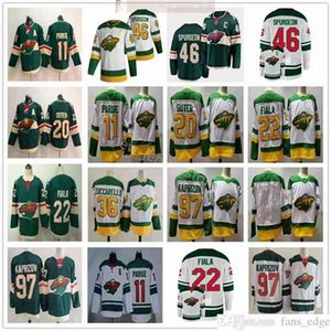 2021 Retro Retro Minnesota Hockey Wild 46 Jared Spurgeon 97 Kirill Kaprizov 11 Zach Parise 22 Kevin Fiala Matt Dumba Ryan Suter Jerseys
