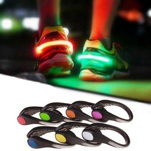 Детские игрушки обуви клип свет свет ночной безопасности Предупреждение светодиодные яркие вспышки для запуска велосипедного велосипеда полезный наружный инструмент светящийся 0277