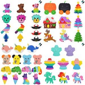 15-43.5CM Christmas Halloween Push pop Fidget Toys Large Giant Xmas Tree Elk Pumpkin Animal Cartoon Sensory Bubble Puzzle Kids Fingertip Board Party Gifts G92QWER