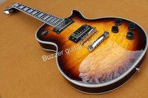 Wholesale Custom shop Tobacco Sunburst Tiger Flame maple top electric guitar mahogany body LesPguitar
