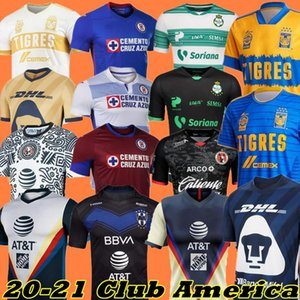 Nouveau 20 21 Club America Soccer Jerseys 2020 2021 Accueil Troisième Tigres Chivas de Guadalajara Camisas de Futebol Shirt de football 210506