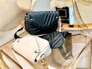 2021 Lüks Tasarımcı Omuz Çantaları Çok Fonksiyonlu Çanta Düz Mektup Zincirleri Çile Dana Dairesel Ayarlanabilir Omuzlar Kayış Kadın Moda Çanta