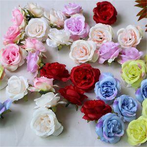 10 pçs / lote mini flores artificiais seda rosas cabeças para decoração de casamento festa falsificada scrapbooking floral grinalda casa acc 551 v2