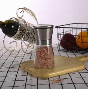 Pepper Mill Grinder из нержавеющей стали Ручная соль портативный Стекло Muller Spice соус дома кухонный инструмент FFA4332