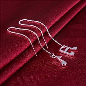 women's sterling silver plated sound Symbol shape earrings Dangle & Chandelier GSSE856 fashion 925 silver plate earring gift