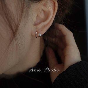 Design sense 925 pure silver freshwater pearl earrings for women's high-grade luxury summer Earrings 2021 NEW