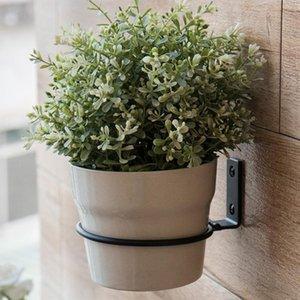 Planters & Pots 3pcs Wall Mounted Flower Pot Tray Metal Iron Ring Flowerpot Bracket Planter Plant Stands Outdoor Stojak Na Kwiaty