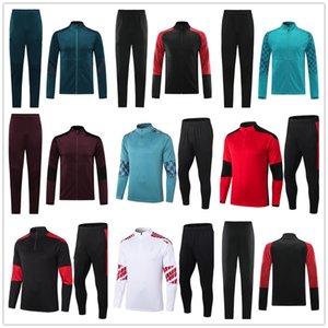 Milan Survêtement 20 21AC Hommes Veste De Football Survêtement 2021 Adulte Football Formation Porter Jogging Veste Kit