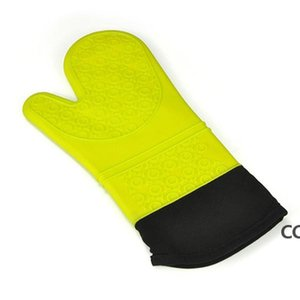 Silicone Oven Mitt Extra Long Oven Mitt Professional Mitts 1 Pair Oven with Quilted Liner high quality 5 colors DHA8792